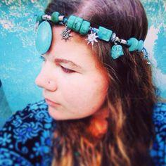 Mermaid - Bohemian - Aquatic Headpiece - Turquoise - Gypsy <3 Jenna Lee, Native Australians, Australian Birds, Handcrafted Jewelry, Headpiece, Jewelry Crafts, Gypsy, Feather, Mermaid