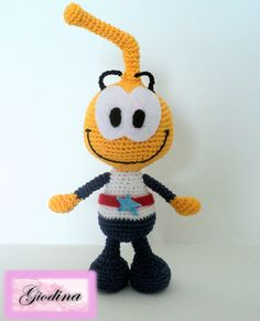 "Amigurumi  Allstar Seaworthy - The Snorks  (SuperStellino de ""Gli Snorky"")"