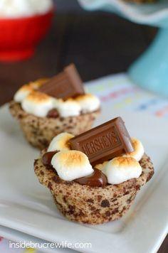 S'mores Cookie Cups on MyRecipeMagic.com