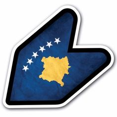 Grunge Kosovo - JDM Wakaba Leaf Flag Decal Sticker Car Macbook Shoshinsha Honda #CUSTOMI