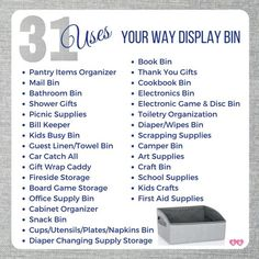 Display Bin 31 Uses Thirty-one Gifts Thirty One Uses, My Thirty One, Thirty One Gifts, Mail Gifts, 31 Gifts, Thank You Gifts, Thirty One Organization, Bill Organization, Thirty One Display