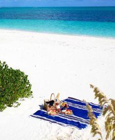Beach Picnic on Blanket