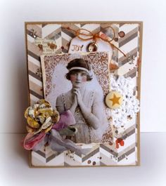 Spotlight Sunday - Creative Girl Card with Dana rubber stamped cards #pwp #paperwingsproductions