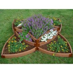 Frame It All Series Composite Versailles Sunburst Raised Garden Bed Kit - x x in. - The Frame It All Series Composite Versailles Sunburst Raised Garden Bed Kit - x x in. captures the elegance and symmetry of Frenc. Herb Garden, Home And Garden, Kid Garden, Children Garden, Garden Gnomes, Dream Garden, Raised Garden Bed Plans, Garden Benches, Garden Planters