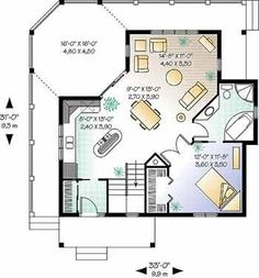 Cabin Plans for Building a Log Cabin from a Stock Cabin Floor Plan, Small Cabin Plans and Log Cabin House Plans room-layouts-for-small-places Cabin House Plans, Cabin Floor Plans, Small House Plans, One Bedroom House Plans, Cabin Homes, Cottage Homes, Log Homes, The Plan, How To Plan