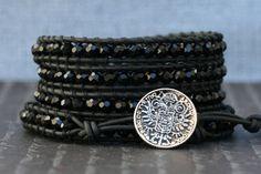 Hey, I found this really awesome Etsy listing at https://www.etsy.com/listing/110641333/black-crystal-wrap-bracelet-jet-black