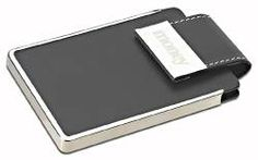 Executive Business card case with magnetic snap closure and custom branding - as low as $7.98.