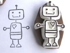 Cute robot stamp!
