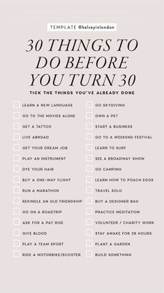 30 Things To Do Before 30, 30 Before 30 List, Bucket List Ideas Before I Die, Self Development, Personal Development, Things To Do When Bored, Things To Do Alone, New Things To Try, Free Things To Do