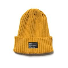 2dc8fd0accce7 HAVEN Wool Knit Cap Yellow Navy Cap