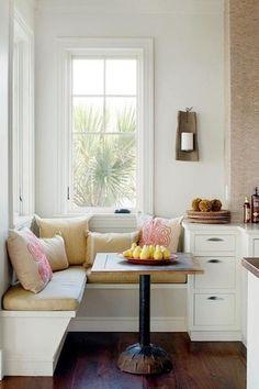 "Traditional Kitchen with Corian designer white, John boos 1.5"" thick walnut edge grain countertop - 36""w, Breakfast nook"