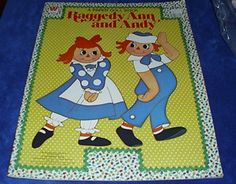 1980 Raggedy Ann and Andy Whitman Paper Dolls Never removed from Book UNUSED Free US shipping