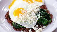 Start the day with this egg, spinach, quinoa and feta power breakfast