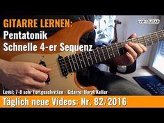 GITARRE LERNEN Pentatonik Schnelle 4 er Sequenz VIP Guitar Horst Keller