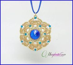 Caterina pendant tutorial  pdf file pattern to by 75marghe75