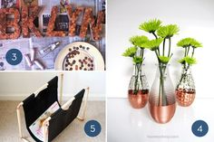 Different uses for copper in home decor.