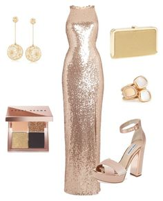 """""""Sparkle & Shine"""" by afroprep on Polyvore featuring TFNC, Steve Madden, Ross-Simons, Jessica McClintock, Bobbi Brown Cosmetics and Roberto Coin"""