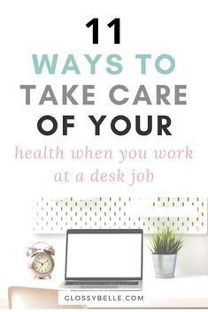 Working at an office job can be mentally exhausting. Here are some easy tips to take care of yourself and stay motivated, healthy and sane when you work at a 9 to 5 desk job. Self Development, Personal Development, Self Confidence Tips, Yoga For Stress Relief, Up Girl, Girl Boss, Work Life Balance, Self Care Routine, Loving Your Body