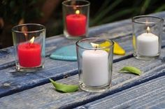 Set of 48 Clear Glass Votive Holders + 48 Votive Candles (Choose From 10 Colors) $40 free shipping