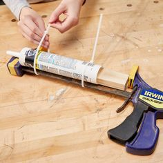 DIY Improvised Caulk Gun — The Family Handyman