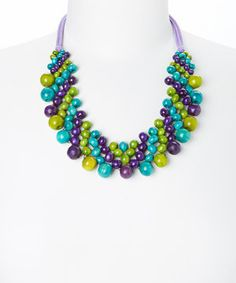 Purple Paradision Necklace by The Beaded Soul #zulily #zulilyfinds
