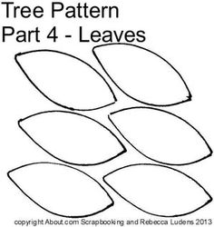 Free Paper Piecing Patterns of a Layered Tree: Tree Pattern Part 4 - Optional Individual Leaves