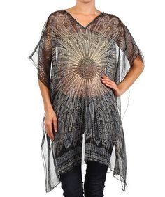 Loving this Black Paisley Sidetail Top - Plus on #zulily! #zulilyfinds