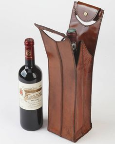 personalised leather wine bottle carrier by life of riley…