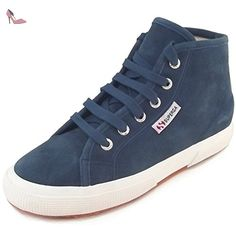 Superga 2750 Sueu, Baskets mode femme, bleu (blue night shadow), 36 EU / 3.5 UK - Chaussures superga (*Partner-Link)
