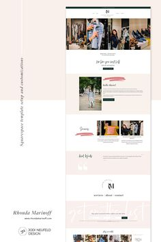One of my services is to set up a premade Squarespace template and customize it for clients. For Rhonda Marinoff, a New York City personal stylist, I worked with her brand designer and a GoLive template to provide her with a more customized website. Web Design Examples, Simple Web Design, Web Design Projects, Beautiful Website Design, Website Design Inspiration, Blog Design, Ux Design, Design Ideas, Web Design Services