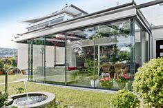 Veranda conservatory - create your own relaxation oasis - Garden Design Ideas Garden Design, House Design, Lounge, Conservatory, Architecture, Oasis, Create Your Own, Relax, Landscape