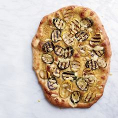 Hummus and Grilled-Zucchini Pizzas  - Delish.com