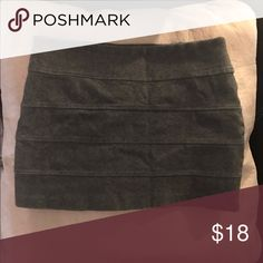 Mini Gray skirt Very mini tight gray skirt. Worn like twice. Good condition. Aeropostale Skirts Mini