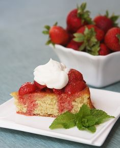 Strawberry and Brown Butter Shortcake Recipe. Perfect Easter dessert recipe or Mother's Day Brunch dessert recipe.