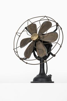Industrial fan in brass by General Electric at Studio Schalling