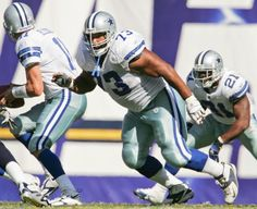 Larry Allen  Position: Guard/tackle. Height, playing weight: 6-3, 325  Years/teams: 1994-2005 Dallas Cowboys, 2006-07 San Francisco 49ers. ... 14 seasons, 203 games.  CAREER HIGHLIGHTS  First-year eligible. ... Selected by Cowboys in second round (46th player overall) of 1994 draft. ... Versatile, played every position on offensive line except center during 12 seasons with Dallas. ... Led way in second season for Emmitt Smith, who set Cowboys' franchise record with 1,773 yards. ... Started…