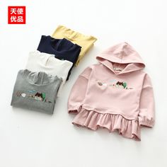 00e8f1ef7 Embroidery Even Hat T-Shirts 2017 Spring Clothes New Pattern Children's  Garment Baby T-Shir Pendulum Cotton Long Sleeve T-Shirts. Madre y niños