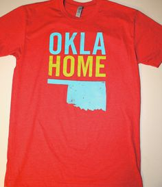 OklaHome T-shirt - Men's Red (Large). $20.00, via Etsy.