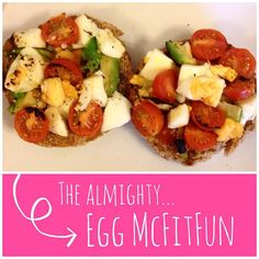 One of my fave combos - egg avo and tomato Oh #eggmcfitfun you know the way to my heart.. I skipped the cheese and English muffin for a wholemeal roll and added cherry tomatoes with a sprinkle of black pepper & oregano definitely has to be one of my fave breakfasts!!