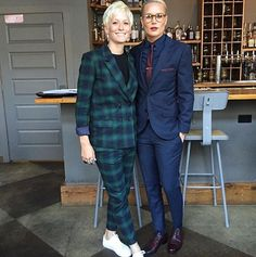 Megan Rapinoe rocked Wildfang to Sydney Leroux's wedding and it was EVERYTHING.... Plus, Ashlyn Harris is looking pretty good, too. Major style goals happening!