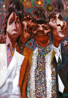 the beatles   Caricatures - Groups & TV shows