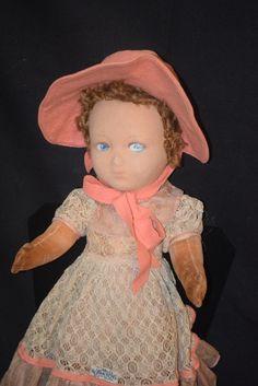 Vintage Doll Cloth Farnell's Alpha Toys English Tagged Dress