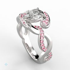 Would you wear this gorgeous custom pink sapphire ring?