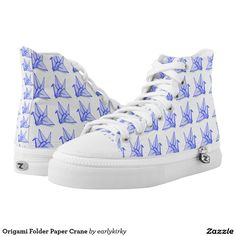 Origami Folder Paper Crane Printed Shoes