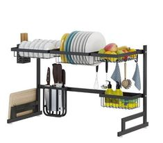 Stainless Steel Kitchen Dish Rack Organizer – DIY HOME DECOR Drying rack improves the kitchen space utilization Package Included: 1 Set Dish Rack Keep your kitchen counter organized and drying Stainless Steel Paint, Stainless Steel Kitchen, Kitchen Space Savers, Casa Top, Dish Racks, Sink Drain, Kitchen Dishes, Kitchen Paint, Küchen Design