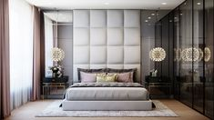 Bedroom Bed Design, Dream Bedroom, Bedroom Decor, Modern Luxury Bedroom, Luxurious Bedrooms, Master Bedroom Makeover, Foyer Flooring, New Homes, Interior Design