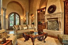 Tuscan-style Decorating | Tuscan Living Room - traditional - living room - austin - by Amanda ...