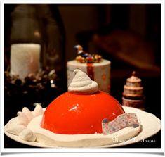 Le bonnet du Père Noël ou bombe glacée (ou pas!) aux cerises Christmas, Fluffy Biscuits, White Chocolate, Condensed Milk, Marshmallow Yams, Xmas, Navidad, Noel, Natal
