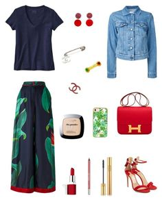 """""""A different kind of casual Friday"""" by raquel-c-macias on Polyvore featuring Patagonia, F.R.S For Restless Sleepers, Salvatore Ferragamo, Marni, Hermès, Closed, Chanel, Antigua, Clinique and Urban Decay"""