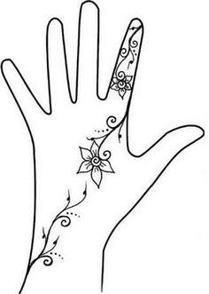 Henna Hand Designs Art Lesson Make A Unique Self Portrait Fun